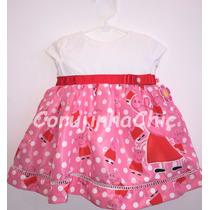Vestido Infantil Festa Peppa Pig - 1 Ano - Pronta Entrega
