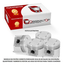 Pistoes Do Motor C/anel 1,00 Celta 1.0 8v Mpfi Gas./ Corsa