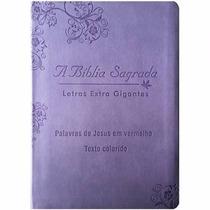 Bíblia Sagrada Letra Extra Gigante Acf Palavras Jesus Vermel