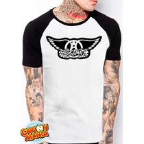 Camiseta Raglan Aerosmith Hard Rock Blues Steven Tyler 2