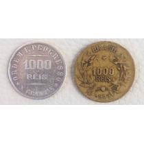 2 Moedas De 1000 Réis 1907 2 1927