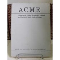 Livro - Acme : Annali Della Facoltà Di Lettere E Filosofia
