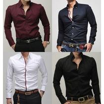 Camisa Social Casual Masculina Slim Fit Importada Nova Moda