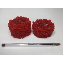 10 Velas Flutuantes - Tubinhos De Rosas