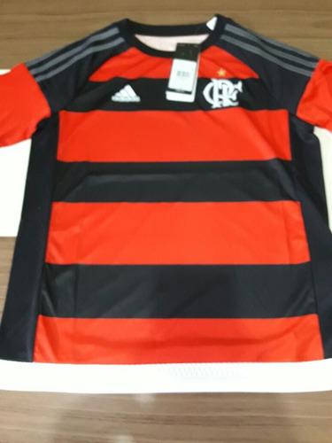 Camisa Infantil Original adidas Flamengo Frete Fixo R 10 c3a6ba83daf9a