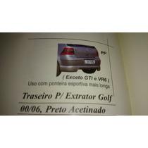 Spoiler Traseiro Para Extrator Golf 00/06 Tg Poli