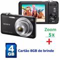 Câmera Digital Fotográfica Sony 16.1 Mp Preta Com Zoom 5x