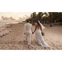 Vendo Vestido De Noiva Usado, Cor Off White, Tomara Que Caia