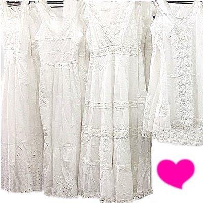 d996316ef Vestidos Longo Branco Lese Renda Grupir Manga Curta Retro