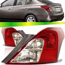 Lanterna Traseira Nissan Versa 2011 2012 2013 2014 Bicolor