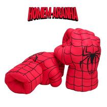 Par De Luvas Homem Aranha - Spider Man - Pelucia - Cosplay