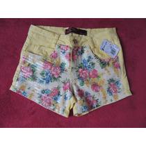 Shorts Feminino Amarelo Paetê