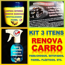 Kit Interno Lava Carro A Seco + Revitalizador Para-choque