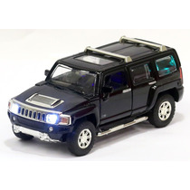 Miniatura Hummer H3 2007 Preta Com Luz E Som