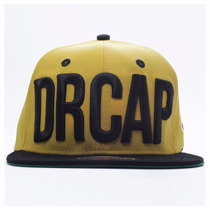 Boné Doutor Cap/drcap Amarelo/preto Snapback Premium