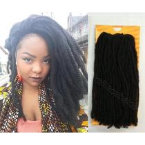 Cabelo Mega Hair Alongamento Aplique Sintético Dread Afro