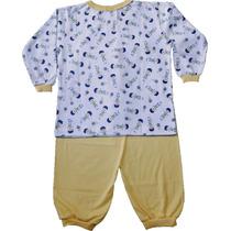 Pijama Infantil Longo 100% Algodão. Tamanhos 02 Ao 06.