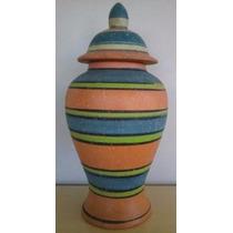 Vaso De Cerâmica Decorativo 23x15