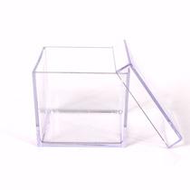 50caixinhas De Acrílico4x4 Transparente Pronta Entrega