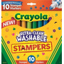 Kit 10 Canetinhas Wasable Stampers Mini Carimbos - Crayola