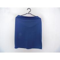 Saia Social Azul Plus Size Cód. 837
