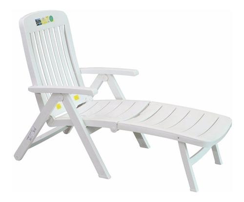 Espreguiçadeira Cadeira Piscina Dobrável Branca Promoção Mor