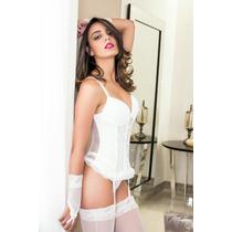 Espartilho,corselet Sexy E Feminino Luvas - T/ Atacado