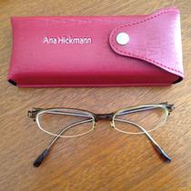 Óculos De Grau Da Grife Ana Hickmann Armação De Acetato Bege