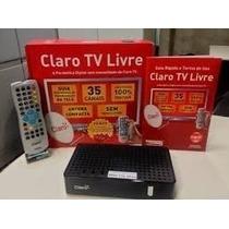 Kit Receptor Claro Tv Livre + Antena +habilitação Gratuita!