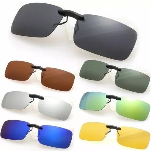 dfdedb4fed01d Oculos Sobrepor Clip On Clipon Uv400 Lentes Polarizadas