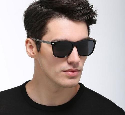 Óculos Solar Masculino Polarizado Quadrado Com Lente Uv. R  89.9 958de93270