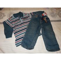 Conjunto Calvin Klein Jeans E Camisa Listrada-tam 2
