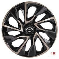 Calota Aro 15 Esportiva Ds4 Gold Para Toyota Etios