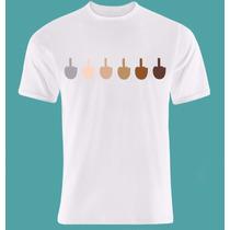 Camisa 100% Poliester Com Estampa Emoji Dedo Do Meio