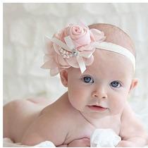 Headband Faixa Tiara Bebê Infantil Pérola Renda Pronta Entre