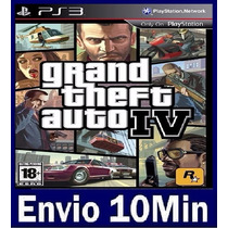 Grand Theft Auto 4 Iv Playstation 3 Gta 4 Ps3 Código Psn