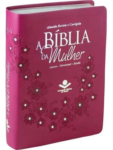Bíblia Sagrada Estudo Mulher Média  Lançamento