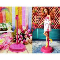 Suporte Rosa Clássico Para Boneca Barbie * Ken * Model Muse