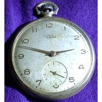 Relógio De Bolso - Lanco 15 Rubis - Prata - Bem Conservado