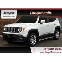 Estribo Tubular/oval Jeep Renegade Preto - Bepo