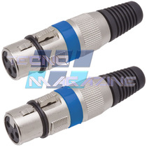 Kit 2 Plugs Xlr Femea Canon P Cabo Microfone Dmx Mesa De Som