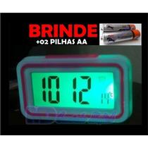 Relógio Despertador C/ Brinde Fala Hora P/ Deficiente Visual