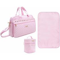 Bolsa Maternidade G + Frasq Lilica Ripilica Luxo F.gratis
