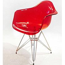 Cadeira Acrílica Dar Torre - Base Em Aço Inox