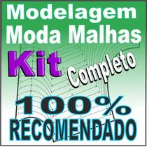 Moldelagem Completa Roupa Malhas Camiseta Polo Regata Moldes