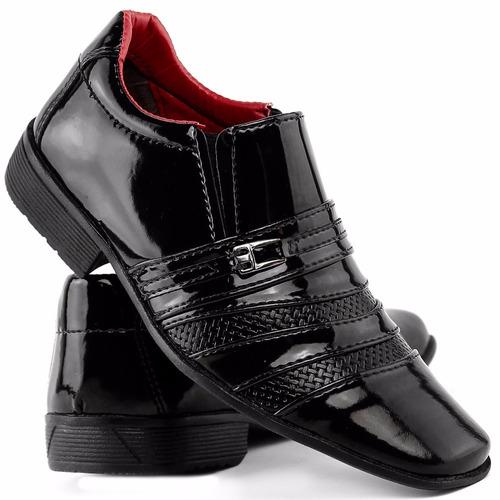 Sapato Masculino Social Infantil Verniz Dhl Calçados Franca