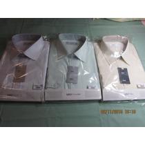 Kit 3 Camisa Raphy Ref.52132ml Work Tam.47(7)branc,palha/lun