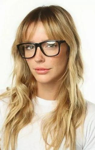 d30367caff447 Óculos Sem Grau Armação Preta Quadrado Grande Moderno Barato