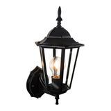 Lâmpada De Parede Eurolume Arandela Lanterna Colonial Preta 110v/220v 1 Unidad