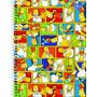 Caderno Espiral 1 Matéria 96 Folhas Simpsons Quadros 2016